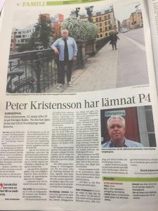 "NT-artiklen ""Peter Kristensson har lämnar P4"""