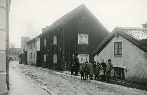 Norrköpings andra lasarett på Dragsgatan. Ur Stiftelsen Gammalt Hantverks samlingar, Norrköpings stadsarkiv